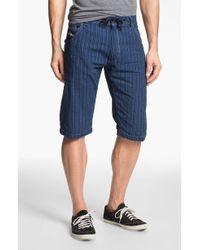Diesel Krooley Stripe Shorts - Lyst