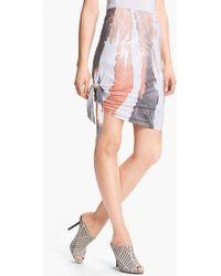 Kelly Wearstler Aristocrat Print Skirt white - Lyst