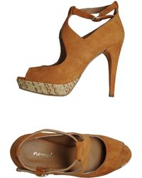Nana' Pumps With Open Toe - Lyst