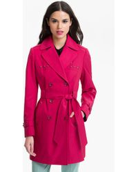 Via Spiga Studded Double Breasted Trench Coat Online Exclusive - Lyst