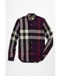 Burberry Brit | Fred Check Sport Shirt | Lyst