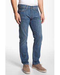 Lucky Brand 121 Heritage Slim Straight Leg Jeans Conejo - Lyst