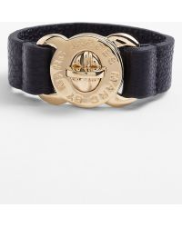 Marc By Marc Jacobs Turnlock Leather Bracelet - Lyst