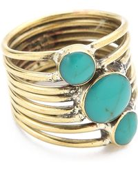 Sunahara - Turquoise Stone Sonic Ring - Lyst