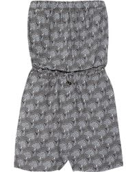 Mulberry - Printed Jersey Playsuit - Lyst