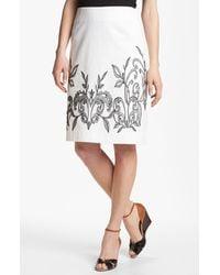 Nic + Zoe Exotic Flowers Skirt white - Lyst