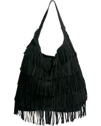 Asos Leather Fringe Hobo Bag - Lyst