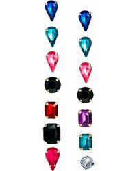 Asos Gem Stud Pack Earrings - Lyst