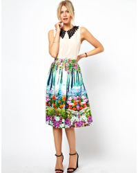 ASOS Collection Midi Skirt in New Floral Print - Lyst