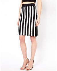 Boutique by Jaeger - Knitted Skirt in Stripe - Lyst