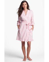 Eileen West Evening Reverie Short Robe - Lyst