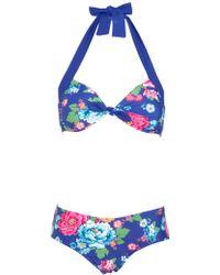 Joules - Larissa Posy Bikini Set - Lyst