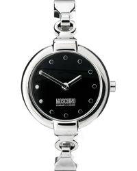 Moschino - Ladies Leather and Metal Bracelet Strap Wrist Watch - Lyst