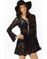 Nasty Gal Rambler Lace Dress - Lyst