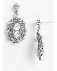 Nina Celia Marquise Drop Earrings - Lyst