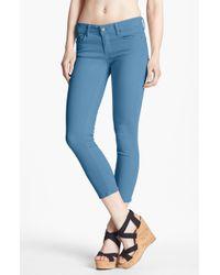 Paige Kylie Crop Jeans Marina Blue - Lyst
