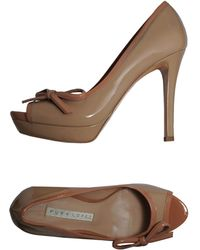 Pura Lopez Pumps With Open Toe - Lyst