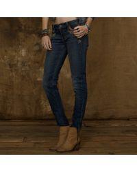 Ralph Lauren Skinny Appliquépocket Jeans - Lyst