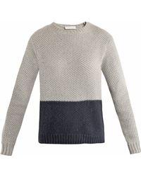 Richard Nicoll - Bi-Colour Waffle-Knit Sweater - Lyst
