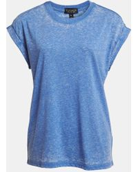 Topshop Oversized Burnout Tee - Lyst