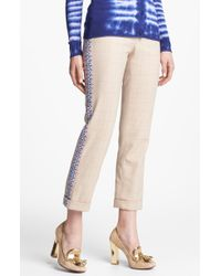 Tory Burch Manda Stretch Crop Pants - Lyst