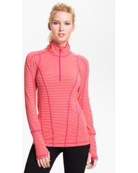 Zella Good Sport Stripe Half Zip Top - Lyst