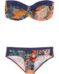 Zimmermann Wanderlust Printed Bandeau Bikini multicolor - Lyst
