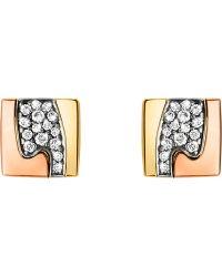 Georg Jensen - Fusion Pavé-set 18ct Gold Stud Earrings - Lyst