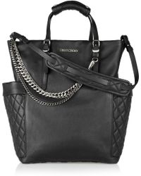 Jimmy Choo Blare Chain-Embellished Leather Tote - Lyst