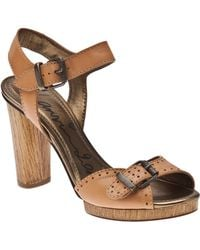 Lanvin High Sandal beige - Lyst