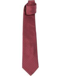 Lanvin Dotted Silk Tie Red - Lyst