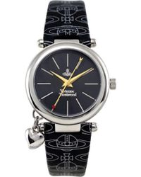 Vivienne Westwood Orb Logo Strap Watch - Lyst