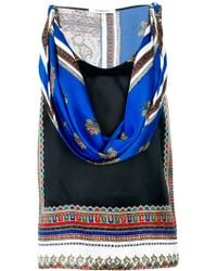 Givenchy Scarf Print Sleeveless Top - Lyst