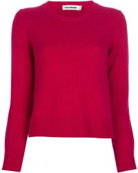 Jil Sander Cropped Cashmere Sweater - Lyst