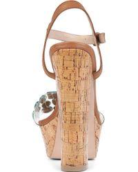 KG by Kurt Geiger Nala Cork Platform Sandals - Lyst