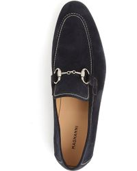 Magnanni Horsebit Suede Loafers - Lyst