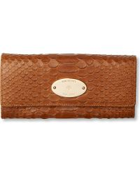 Mulberry - Silky Snake Print Wallet - Lyst