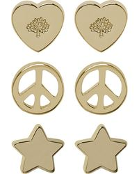 Mulberry Love and Peace Stud Earrings - Lyst
