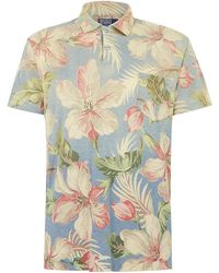 Polo Ralph Lauren Floral Print Polo Shirt - Lyst