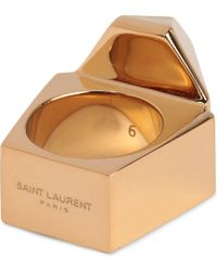 Saint Laurent Geometric Ring - Lyst