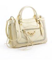 Sam Edelman Colette Leather Satchel Bag beige - Lyst