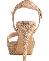 Stuart Weitzman Chandelle Leather Platform Sandals - Lyst