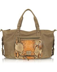 Abaco   Odelia Large Python Leather Tote   Lyst