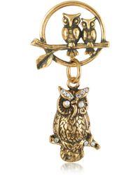 Alcozer & J   Owl Brass Pin   Lyst