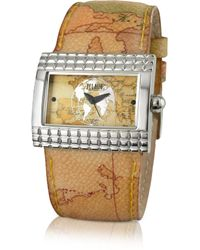Alviero Martini 1A Classe - 1a Prima Classe - Ladies Geo Rectangular Dial and Strap Watch - Lyst