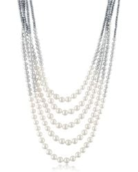 AZ Collection - Multi-strand Long Bead Necklace - Lyst
