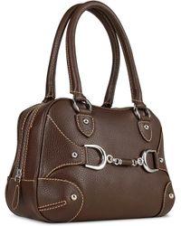 Buti | Dark Brown Italian Pebble Calf Leather Satchel Bag | Lyst