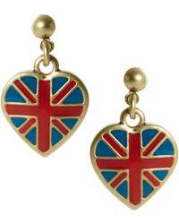 Cath Kidston - Union Jack Drop Earrings - Lyst