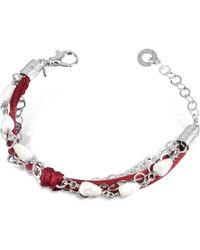 Daco Milano White Agate Drops Multi-Strand Sterling Silver Lace Bracelet - Lyst