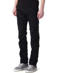 Diesel Darron 008Qu Slim Tapered Jeans - For Men black - Lyst